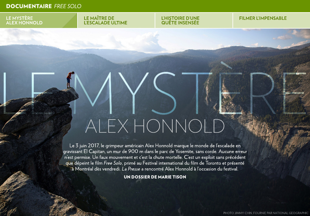 Le Mystere Alex Honnold La Presse
