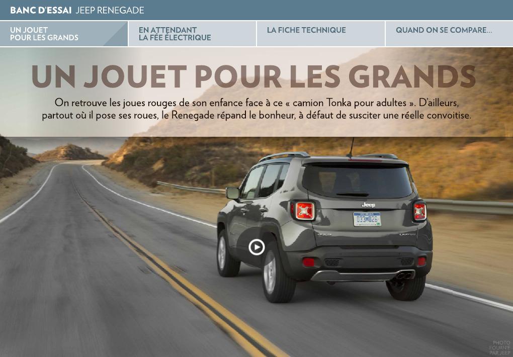 RenegadeUn La Pour Jeep Jouet Presse Les Grands N0Py8wvmnO