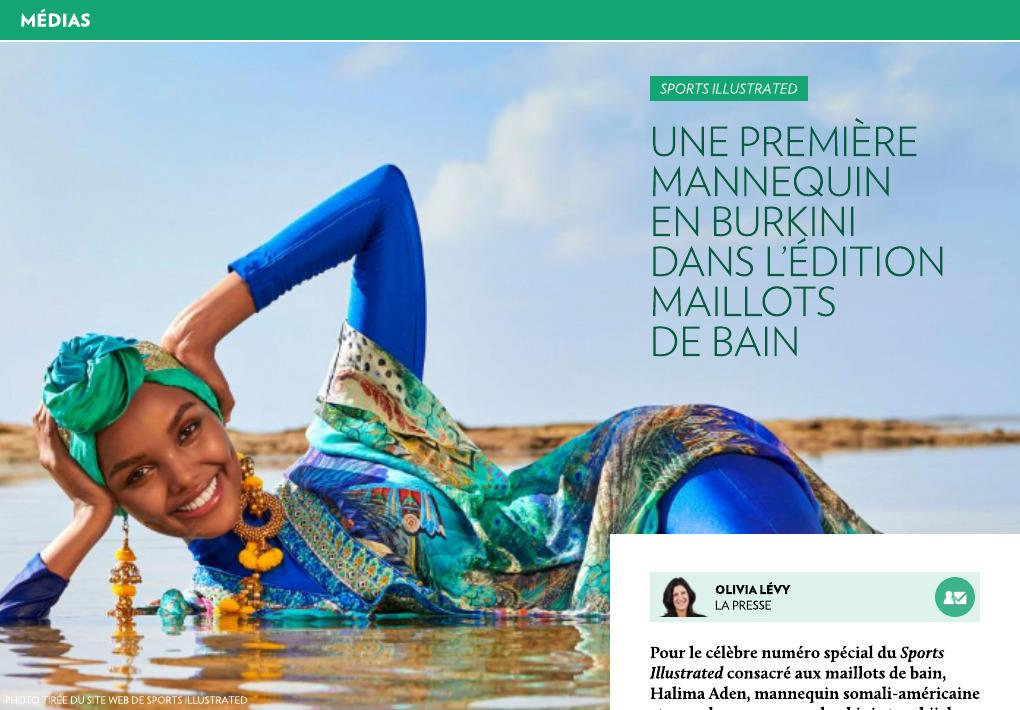 Mannequin Si Presse Une La Première En Dans Burkini » « 7b6yfYg