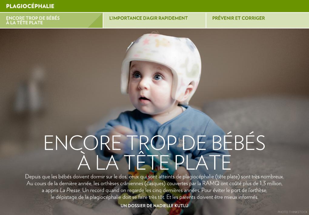 8f0e67fb4ee1 Encore trop de bébés à la tête plate - La Presse+