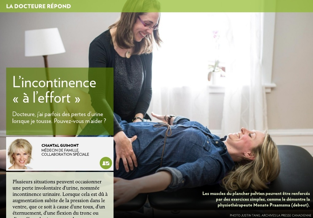 l 39 incontinence l 39 effort la presse. Black Bedroom Furniture Sets. Home Design Ideas