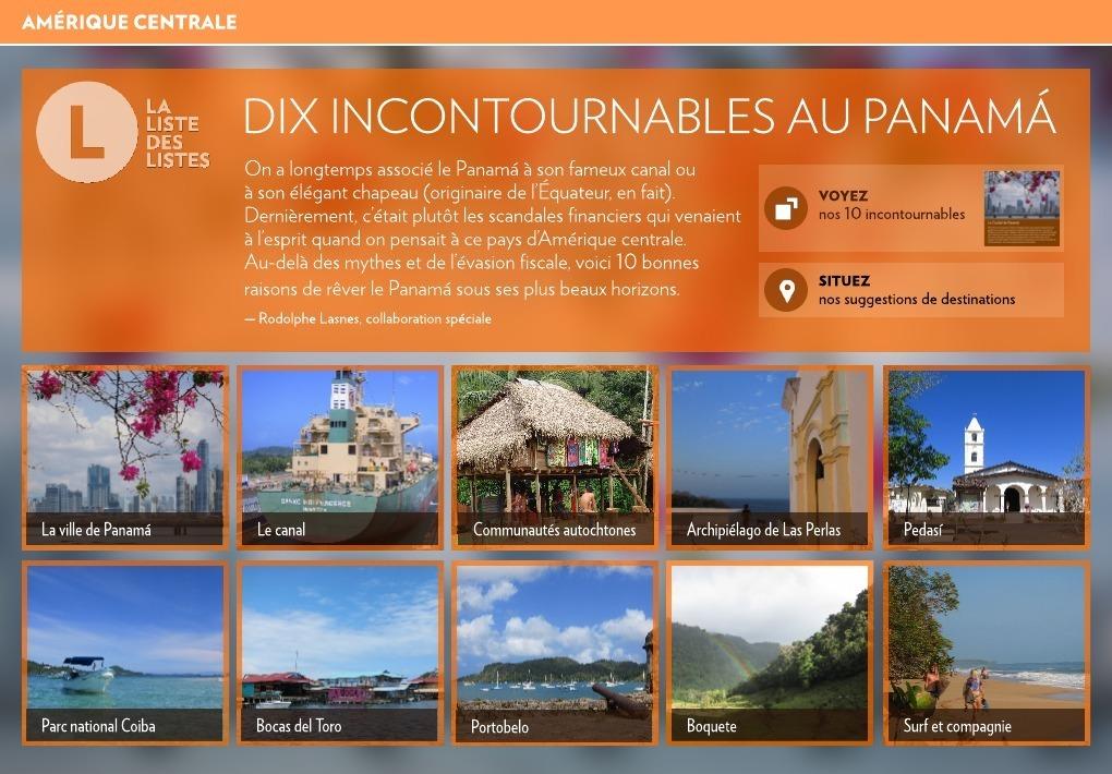 couleur n brillante super promotions bon service Dix incontournables au Panamá - La Presse+
