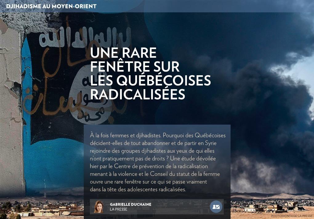 Une rare fen tre sur les qu b coises radicalis es la presse for Fenetre quebecoise
