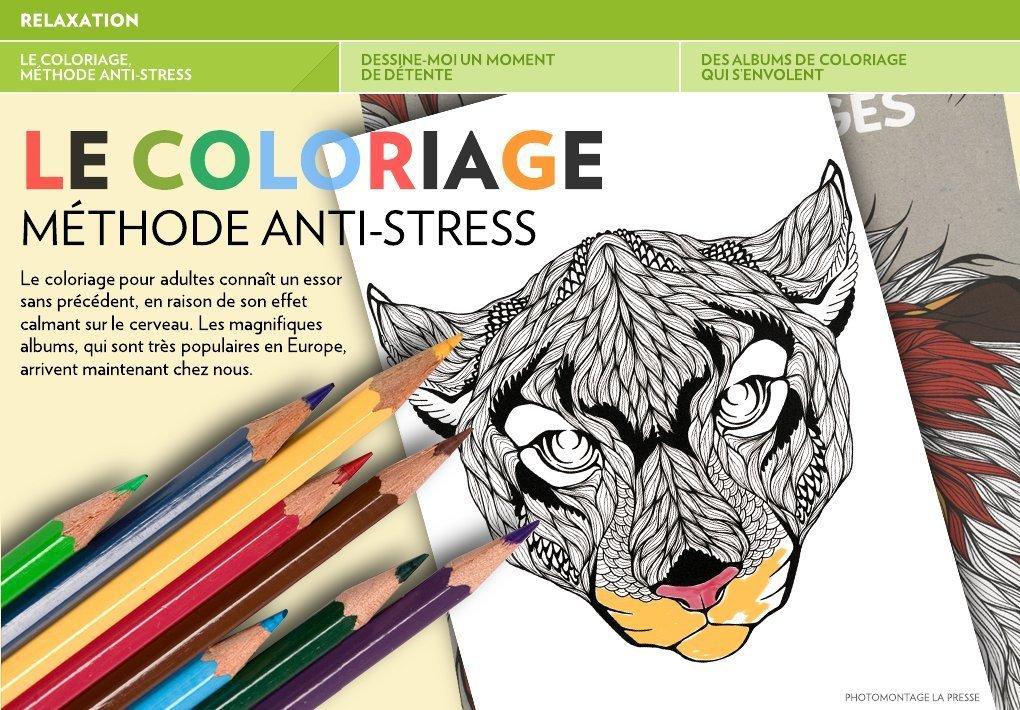 le coloriage m thode anti stress la presse. Black Bedroom Furniture Sets. Home Design Ideas