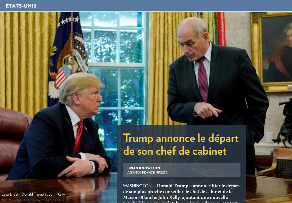 7542e323c1 Trump annonce le départ de son chef de cabinet - La Presse+