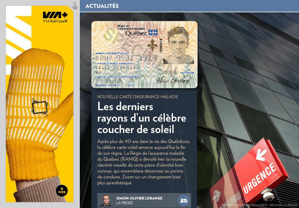 Carte Assurance Maladie Naissance.Les Derniers Rayons D Un Celebre Coucher De Soleil La Presse