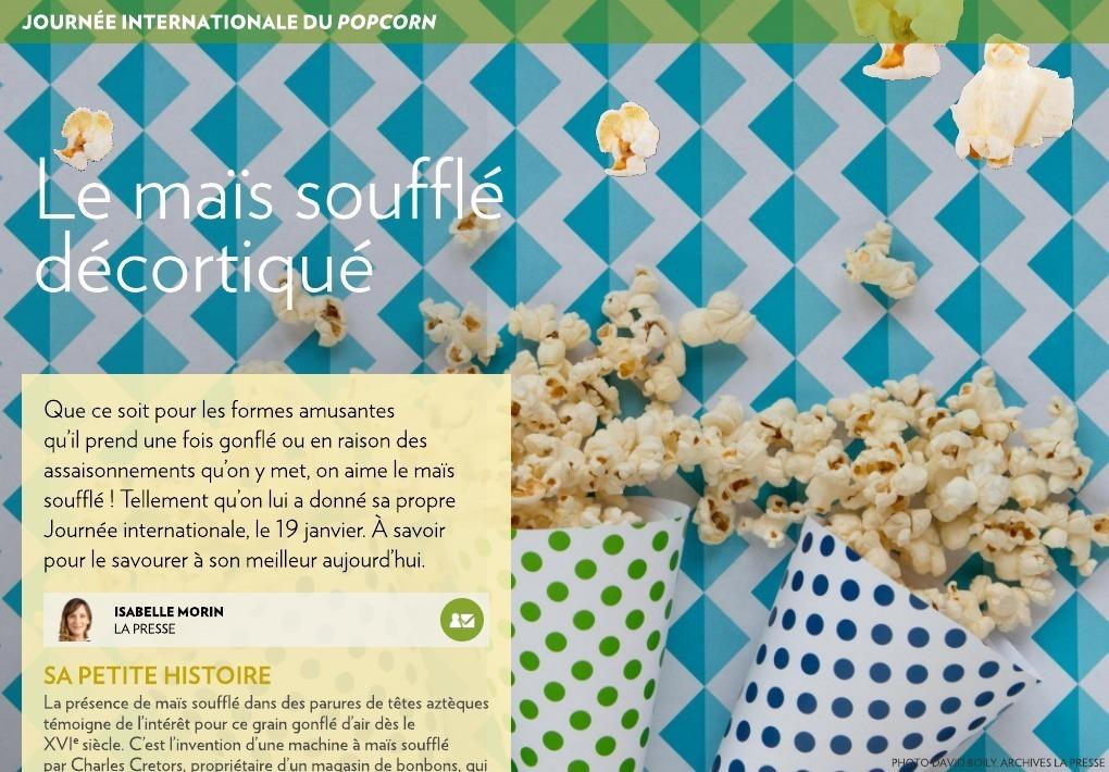 Le maïs soufflé décortiqué - La Presse