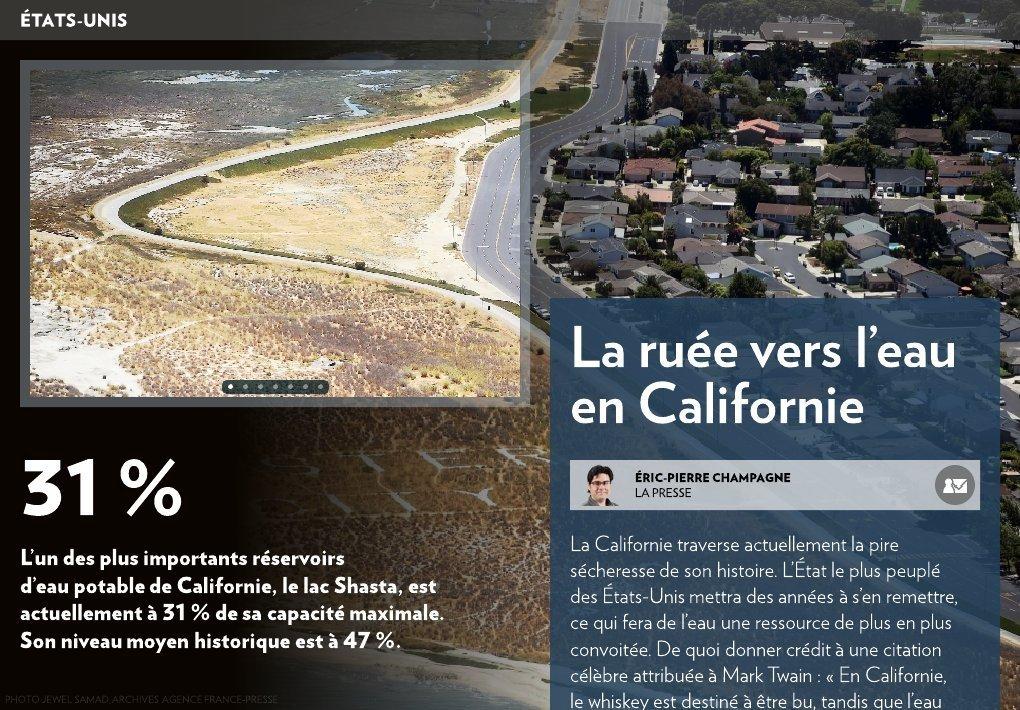 La Ruée Vers L Eau En Californie La Presse