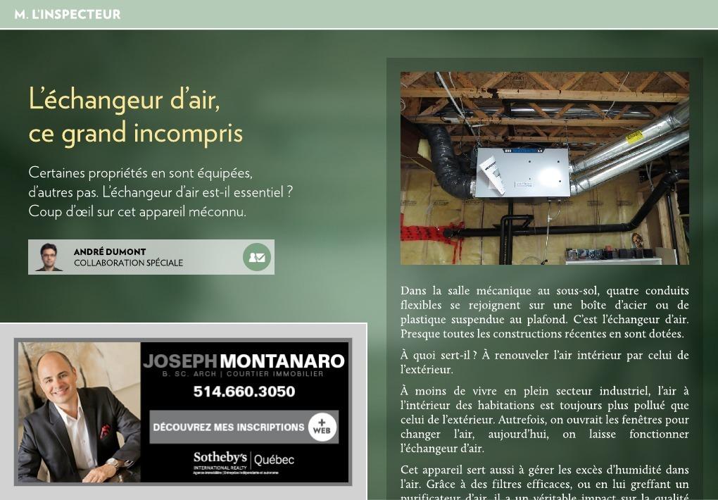 echangeur air air maison La Presse+