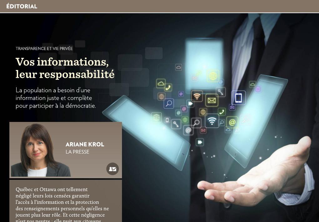 Vos informations, leur responsabilité - La Presse+ 81abdc284f56