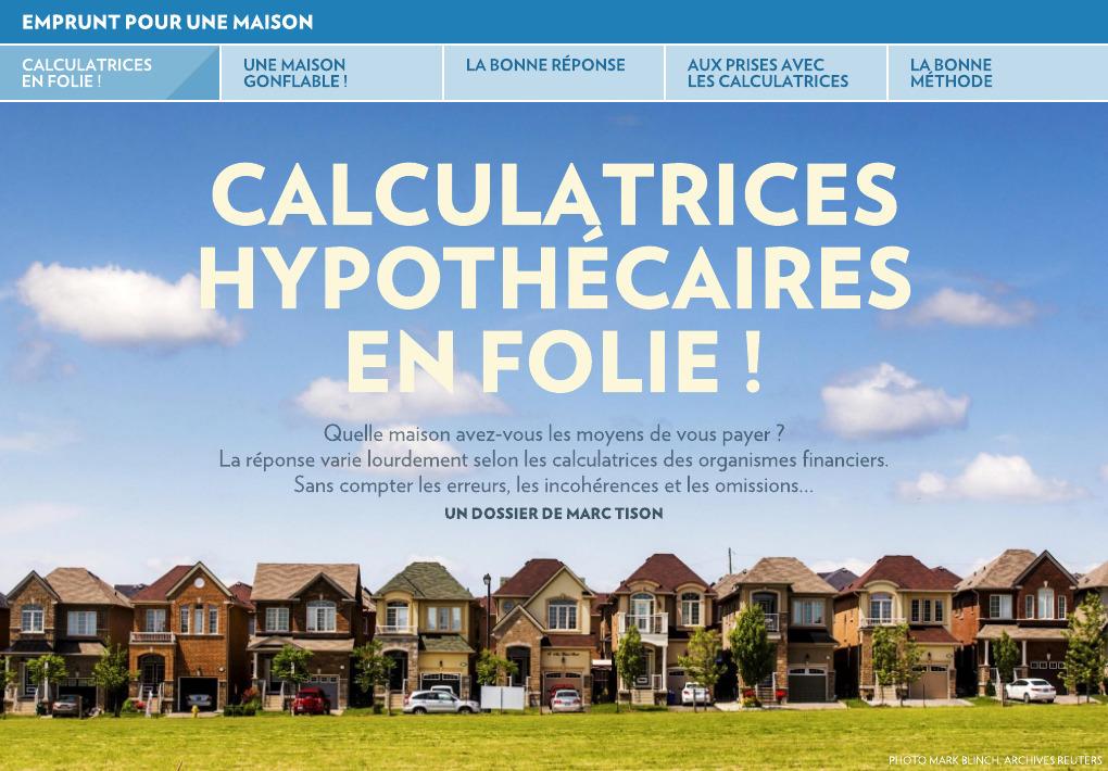 Calculatrice hypothécaire schl