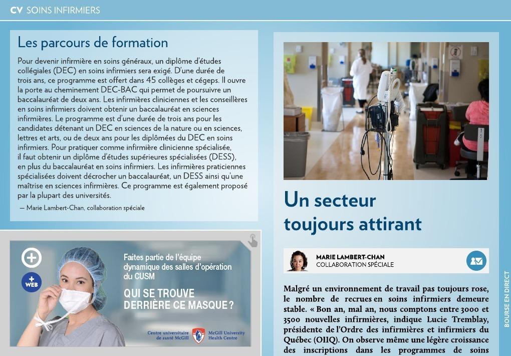 soins infirmiers   un secteur toujours attirant