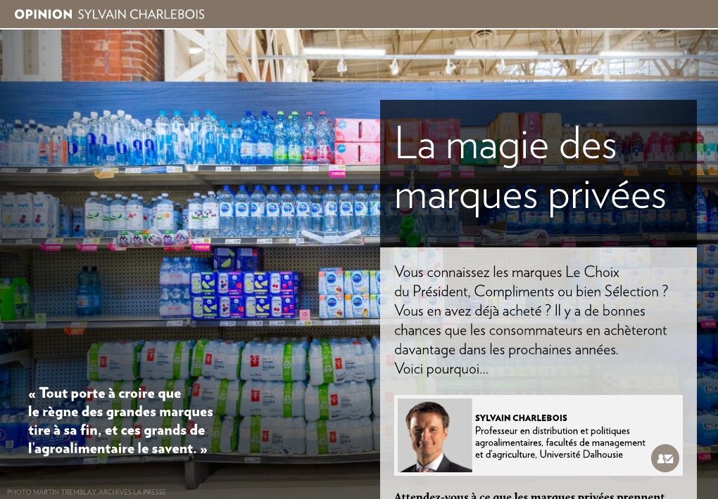 La magie des marques privées - La Presse+ ac0da7dd328f