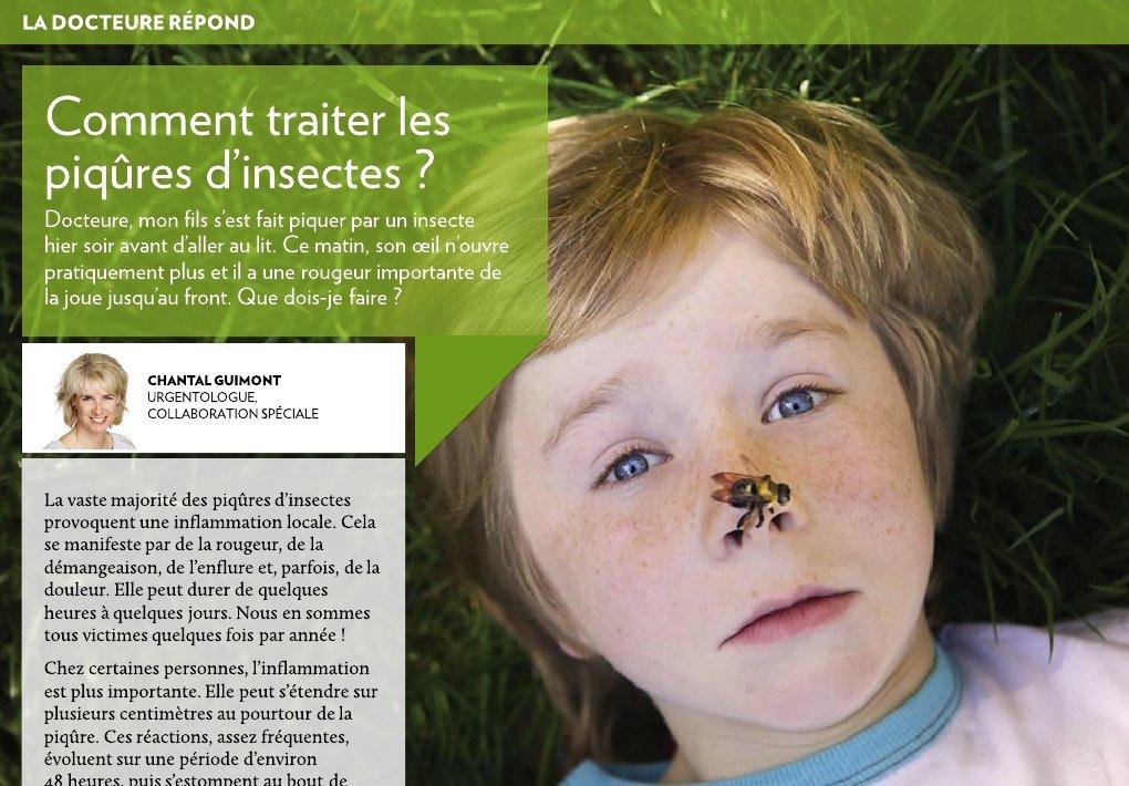 Comment traiter les piqûres d'insectes ? - La Presse+