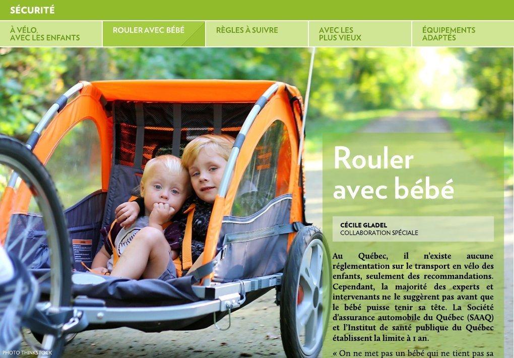 à Vélo Avec Les Enfants La Presse