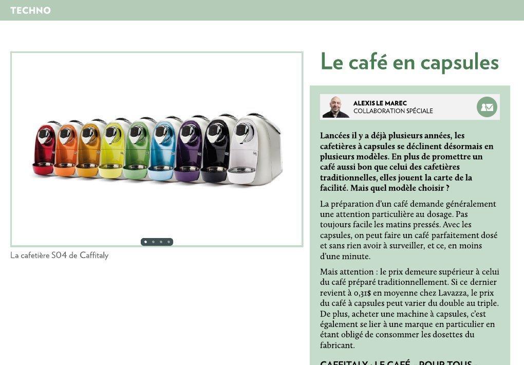 Le café en capsules - La Presse+