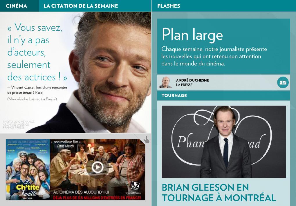 Les nouvelles cinématographiques - La Presse+