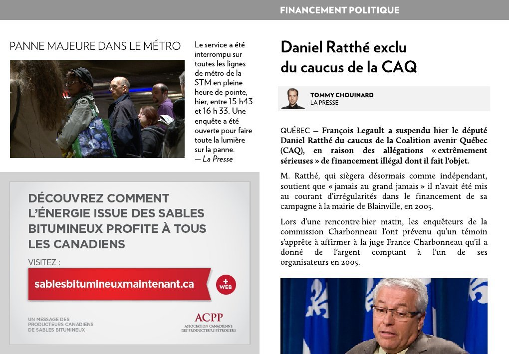 daniel ratth exclu du caucus de la caq la presse. Black Bedroom Furniture Sets. Home Design Ideas