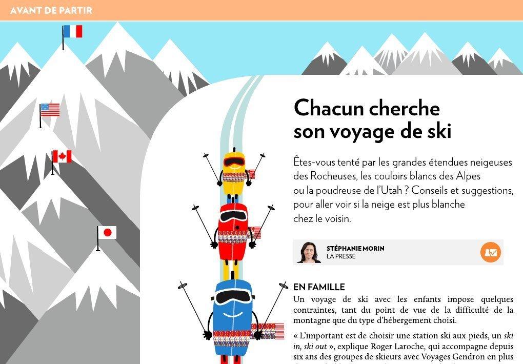 chacun cherche son voyage de ski la presse. Black Bedroom Furniture Sets. Home Design Ideas