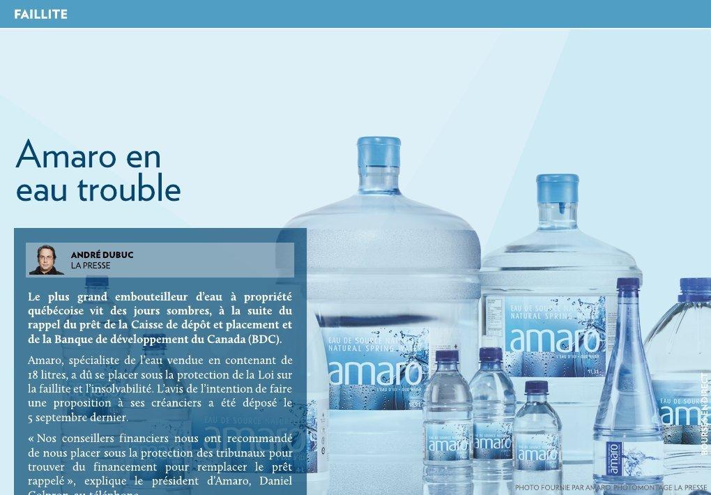 Amaro en eau trouble - La Presse+