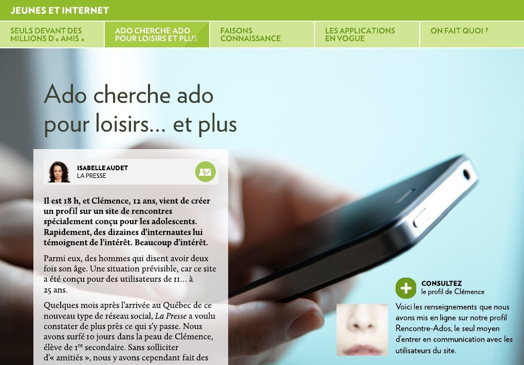 Site de rencontre ado application
