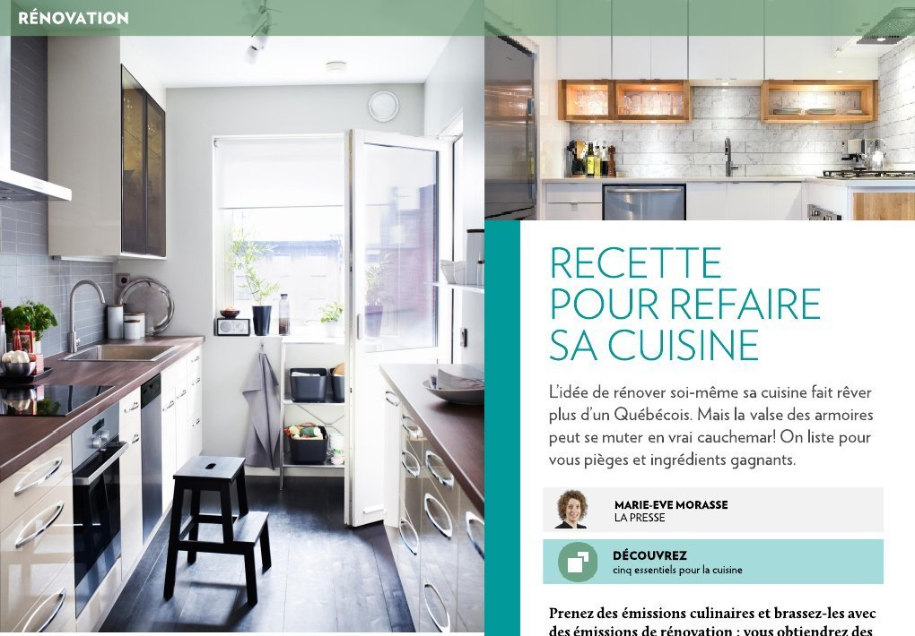 recette pour refaire sa cuisine la presse. Black Bedroom Furniture Sets. Home Design Ideas
