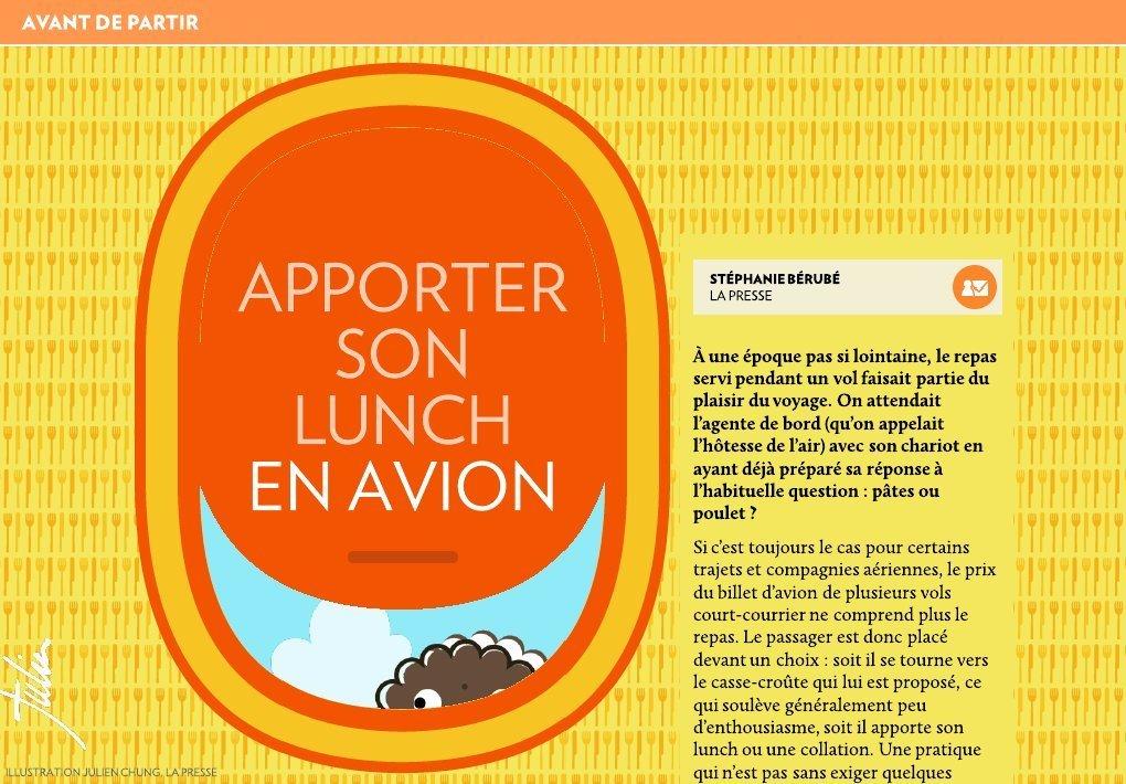 design intemporel 7e4a9 b310d Apporter son lunch en avion - La Presse+