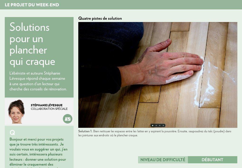 solutions pour un plancher qui craque - la presse+