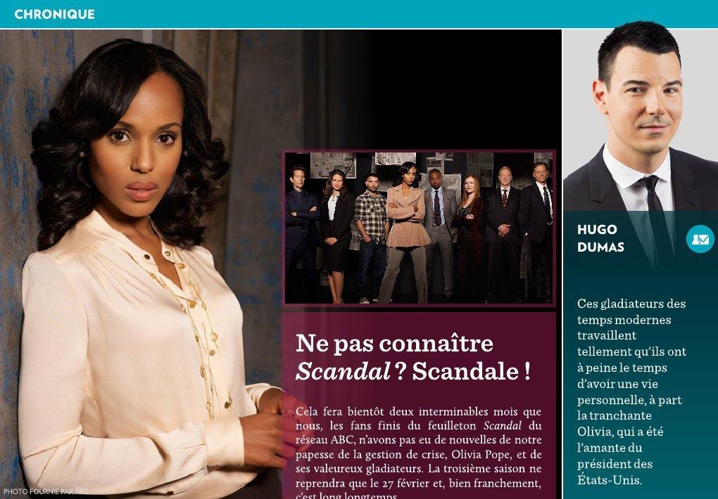 Ne pas conna tre scandal scandale la presse - Feuilleton saloni version francaise ...