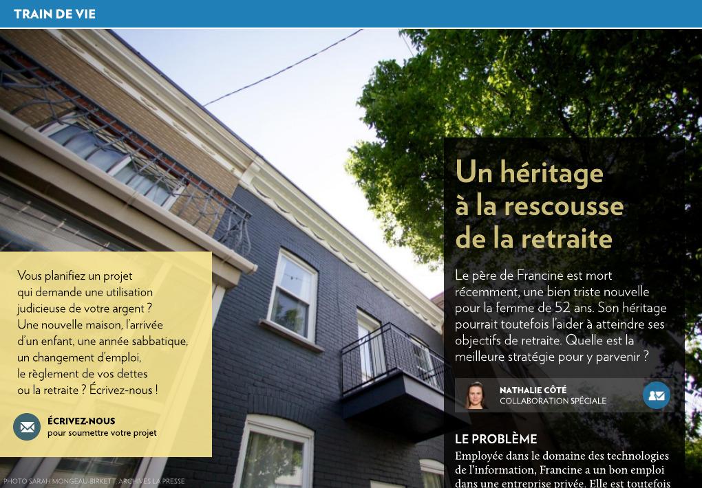 Un Heritage A La Rescousse De La Retraite La Presse