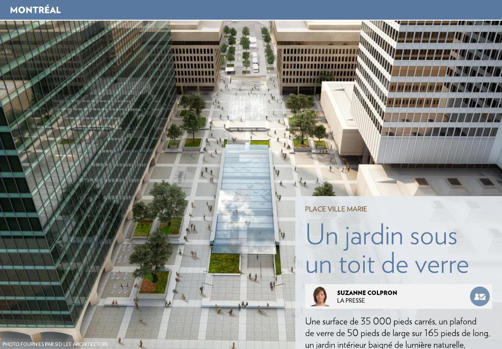 Un jardin sous un toit de verre - La Presse+