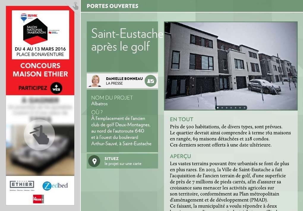 Saint eustache apr s le golf la presse for Club piscine st eustache
