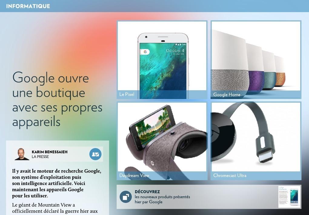 Google   une boutique pour ses propres appareils - La Presse+ 9f3d3f3a169f