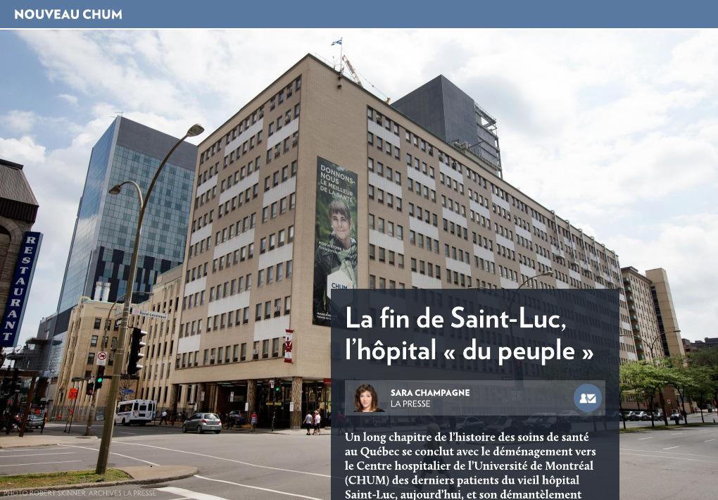 L'hôpital Saint-Luc, l'hôpital « du peuple » - La Presse+