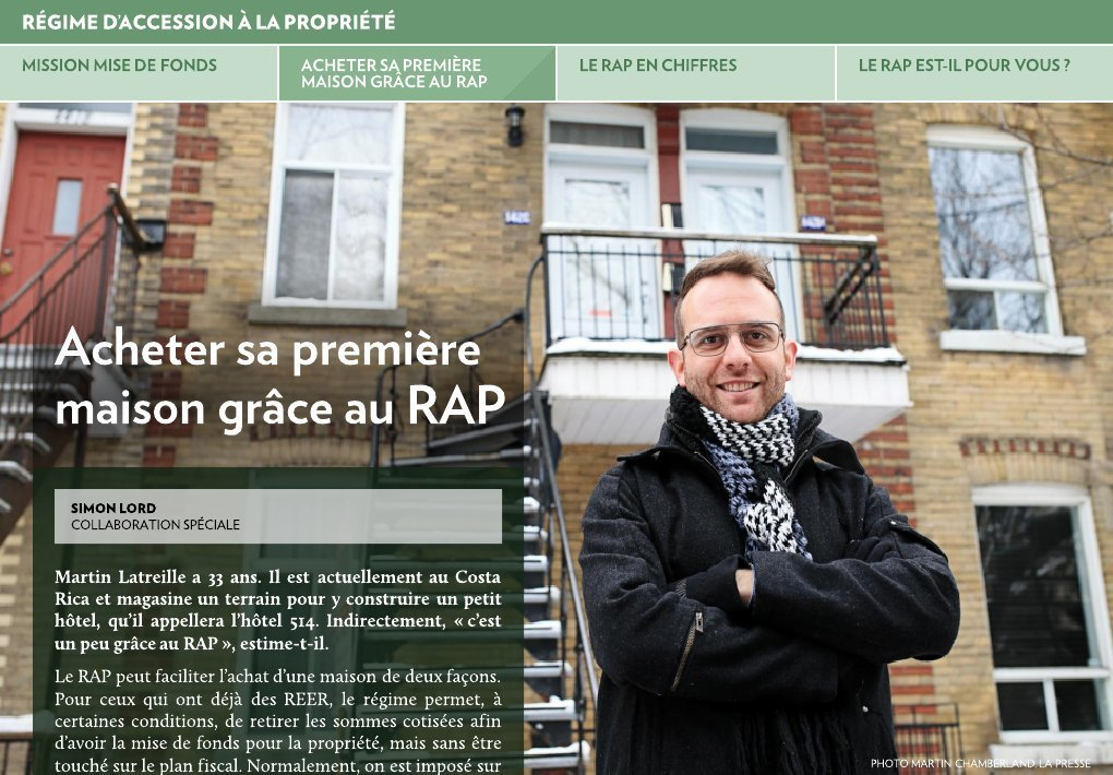 Mission mise de fonds la presse for Achat maison rap
