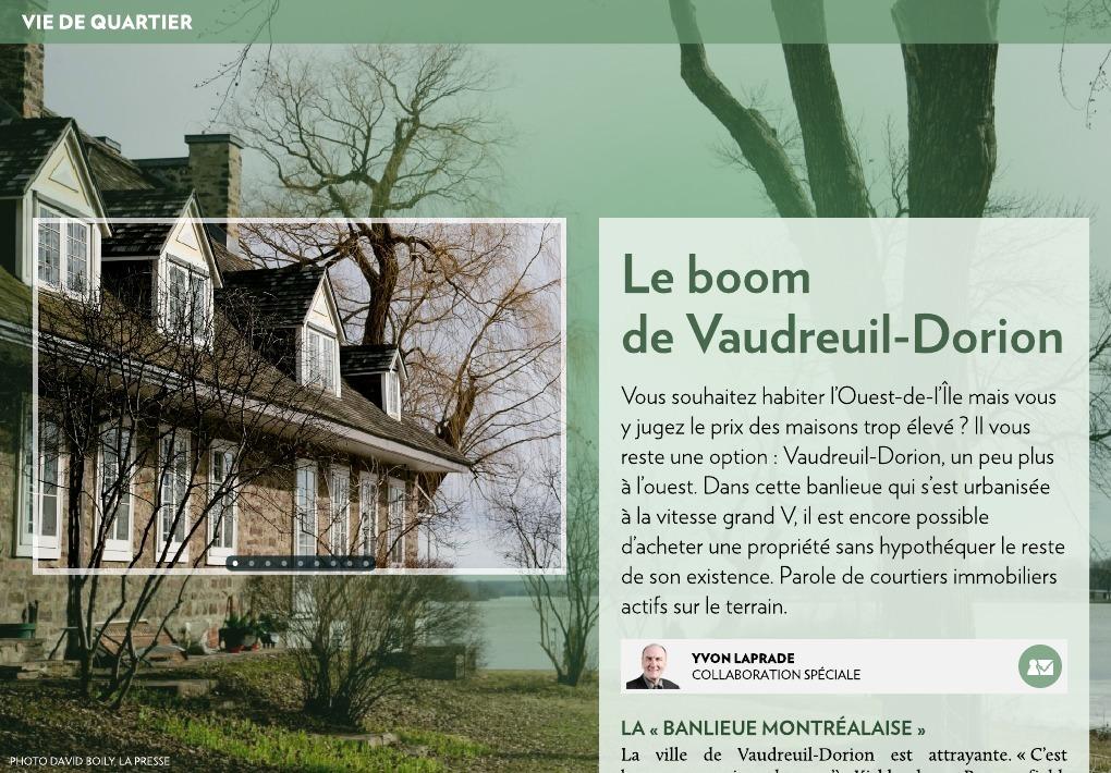 Le boom de vaudreuil dorion la presse - Acheter une maison en sci pour y habiter ...
