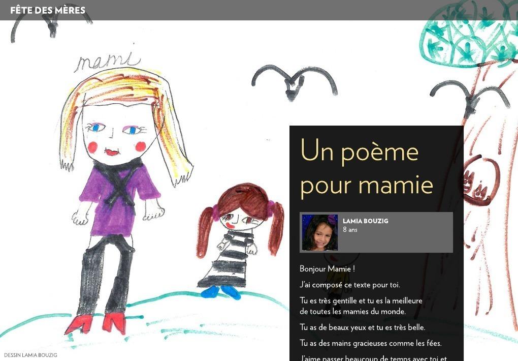 Un Poème Pour Mamie La Presse