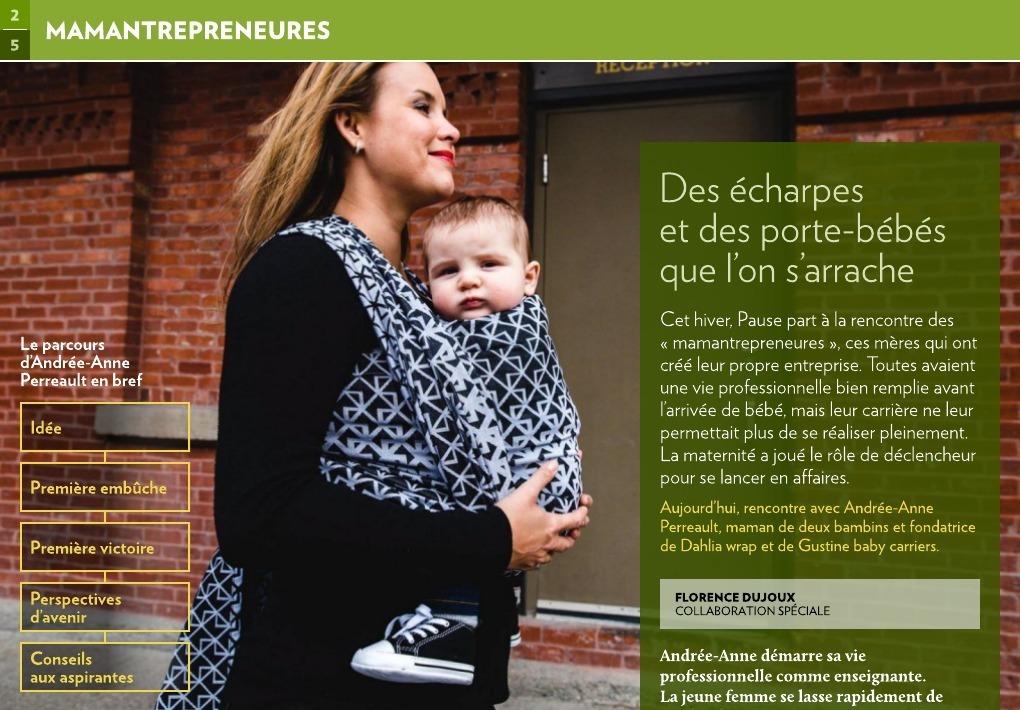Des écharpes et des porte-bébés que l on s arrache - La Presse+ 23ebb4d445a