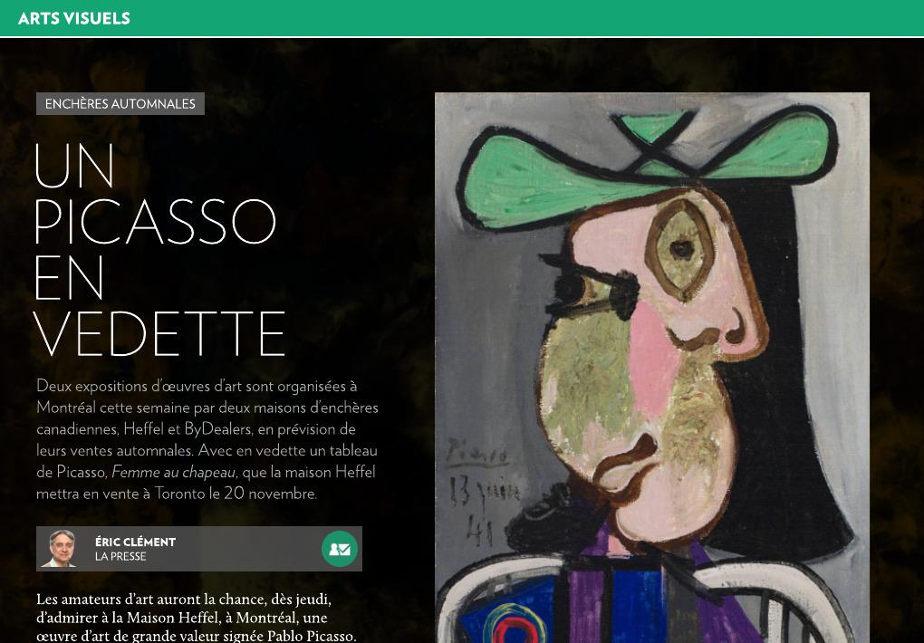 Enchères automnales : un Picasso en vedette