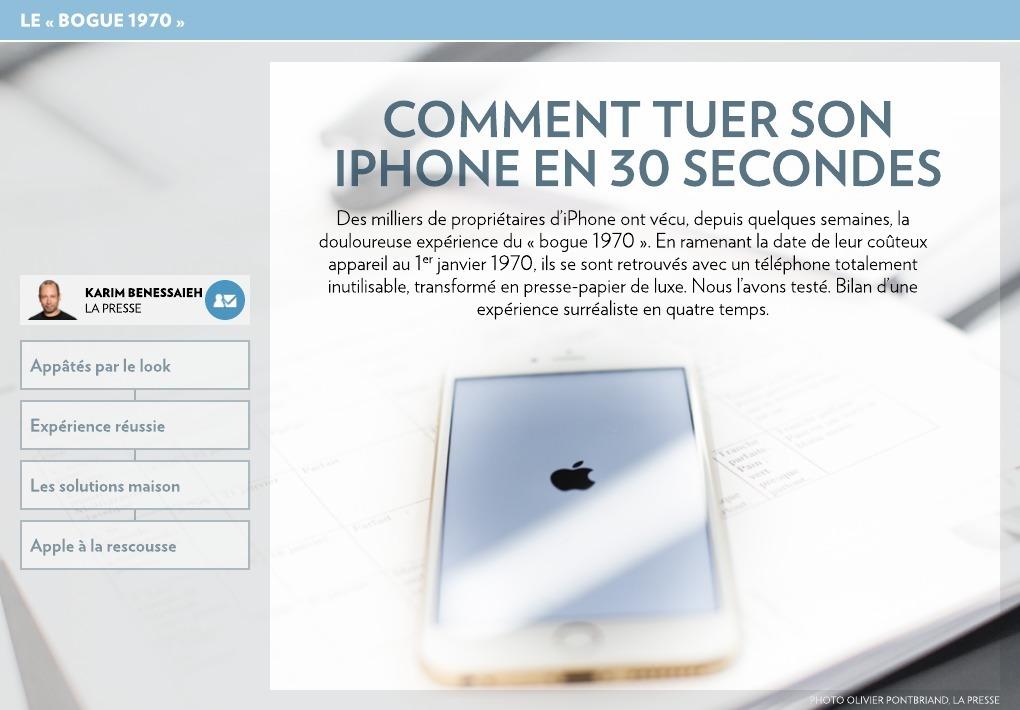 Comment tuer son iphone en 30 secondes la presse - Comment se tuer efficacement ...