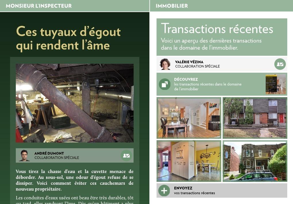 Transactions Rcentes  La Presse