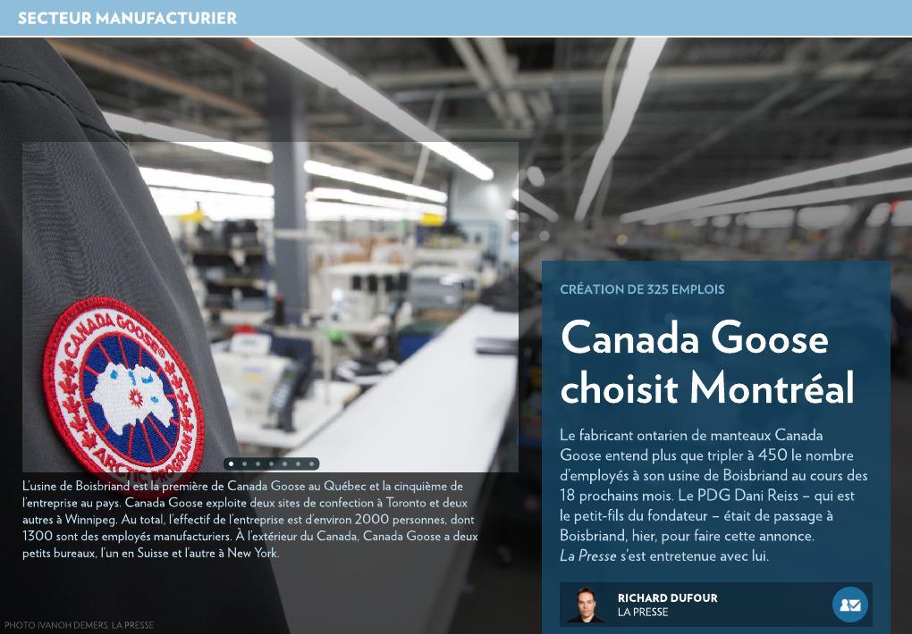 usine canada goose