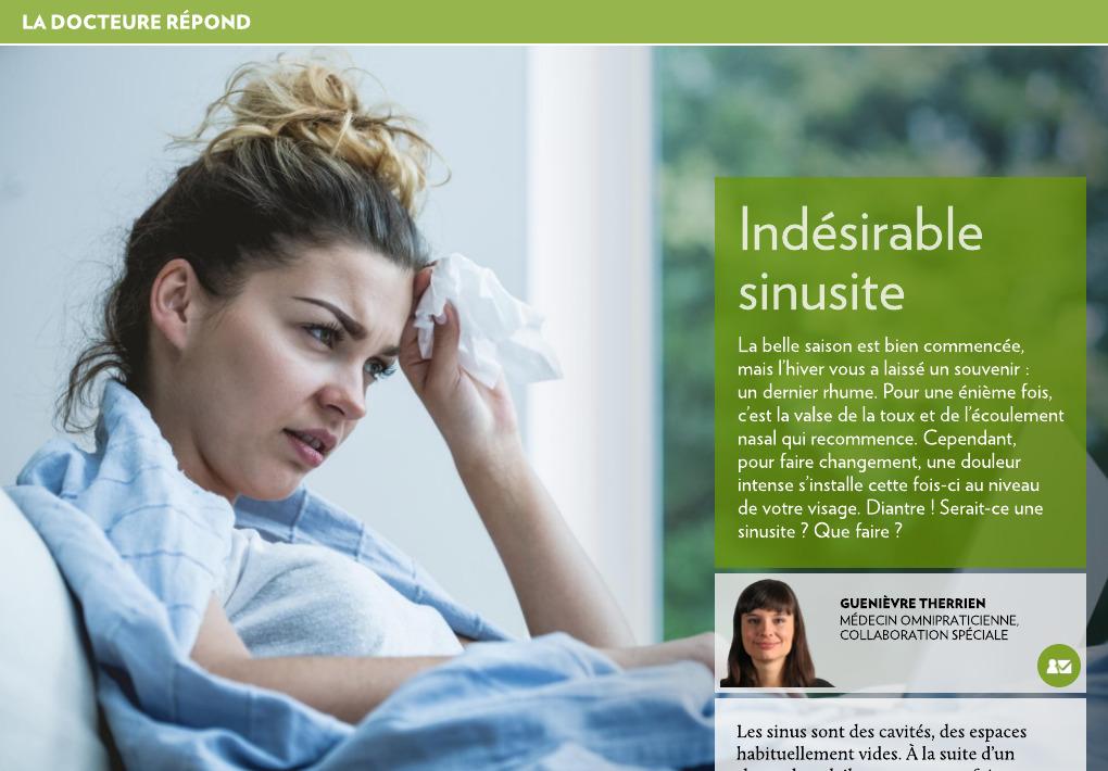 sinusite mauvaise haleine