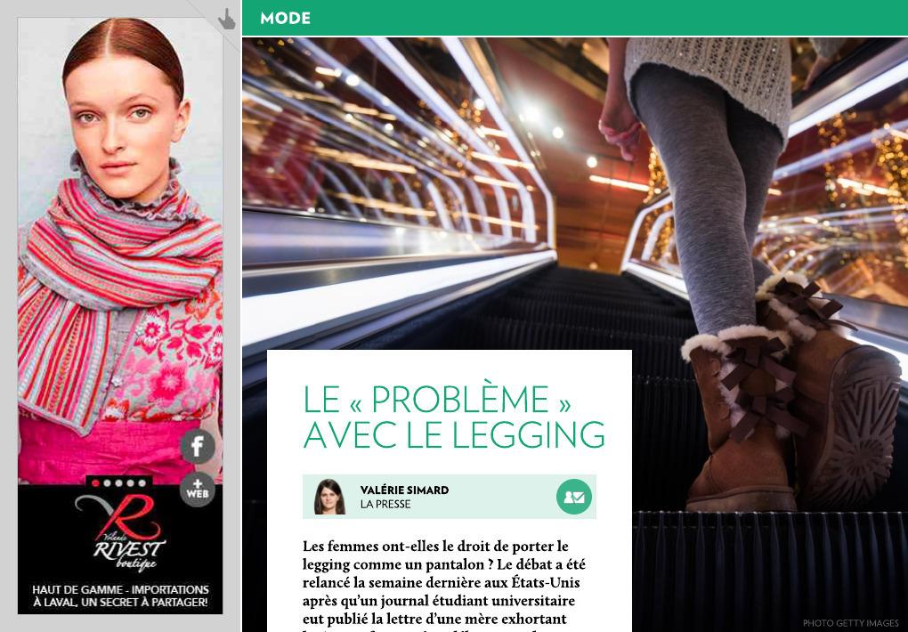 95c1c66c52f Le « problème » avec le legging - La Presse+