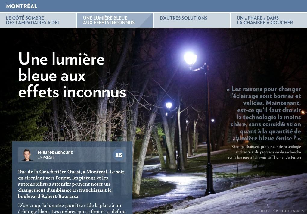 Le Cote Sombre Des Lampadaires A Del La Presse