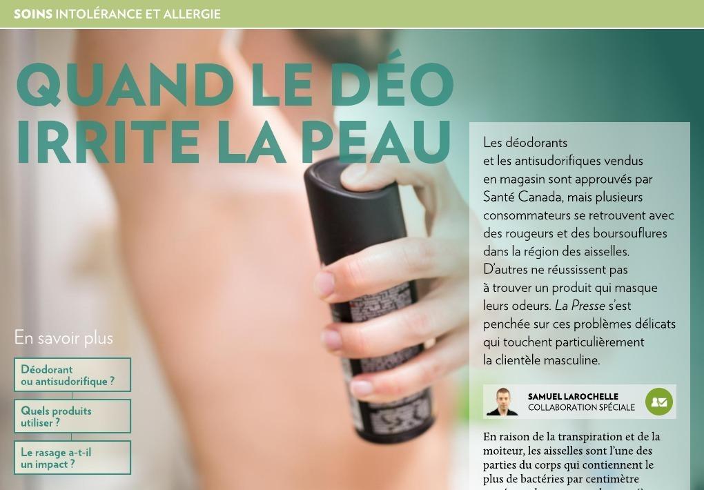aeba6dabbdf Quand le déo irrite la peau - La Presse+