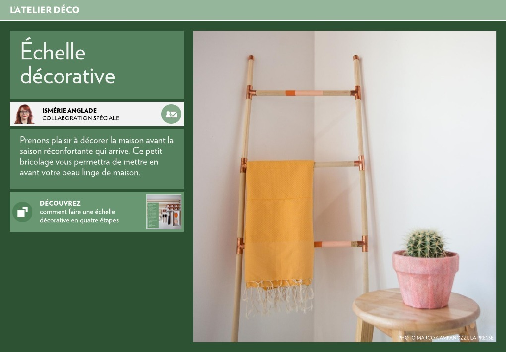 chelle d corative la presse. Black Bedroom Furniture Sets. Home Design Ideas