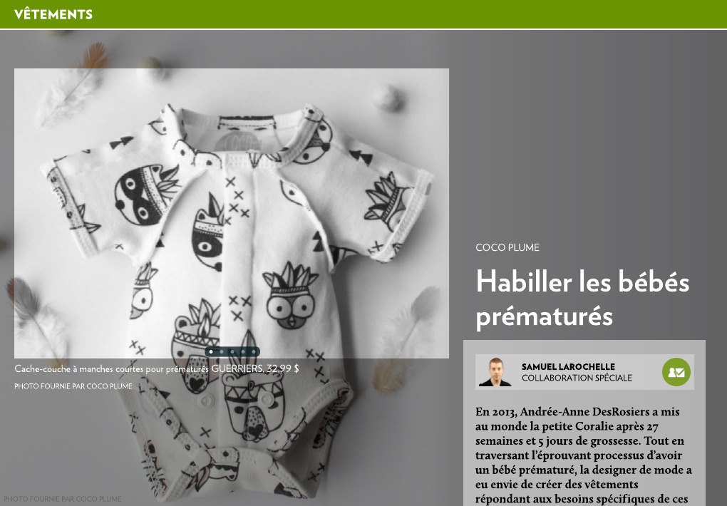 Habiller les bébés prématurés - La Presse+ 1c6b3076d32c
