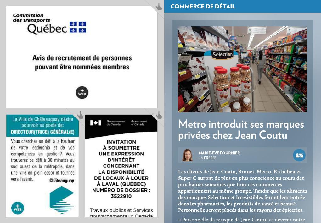 Metro introduit ses marques privées - La Presse+ b9ae7a157949