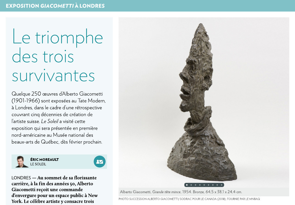 oeuvre trois grand hommes giacometti